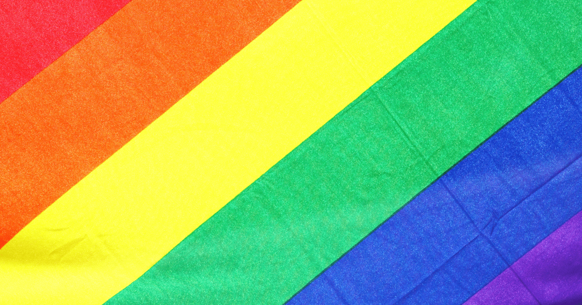 rainbow pattern for pride month
